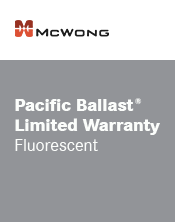 McWong Fluorescent Warranty