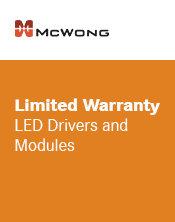 McWong LED Driver & Modules Warranty
